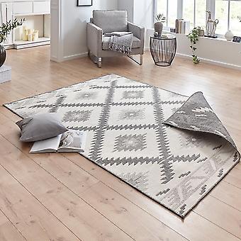 Drejning tæppe Malibu grå fløde i- & udendørs