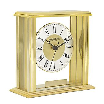 16cm Gold Flat Top Mantel Clock
