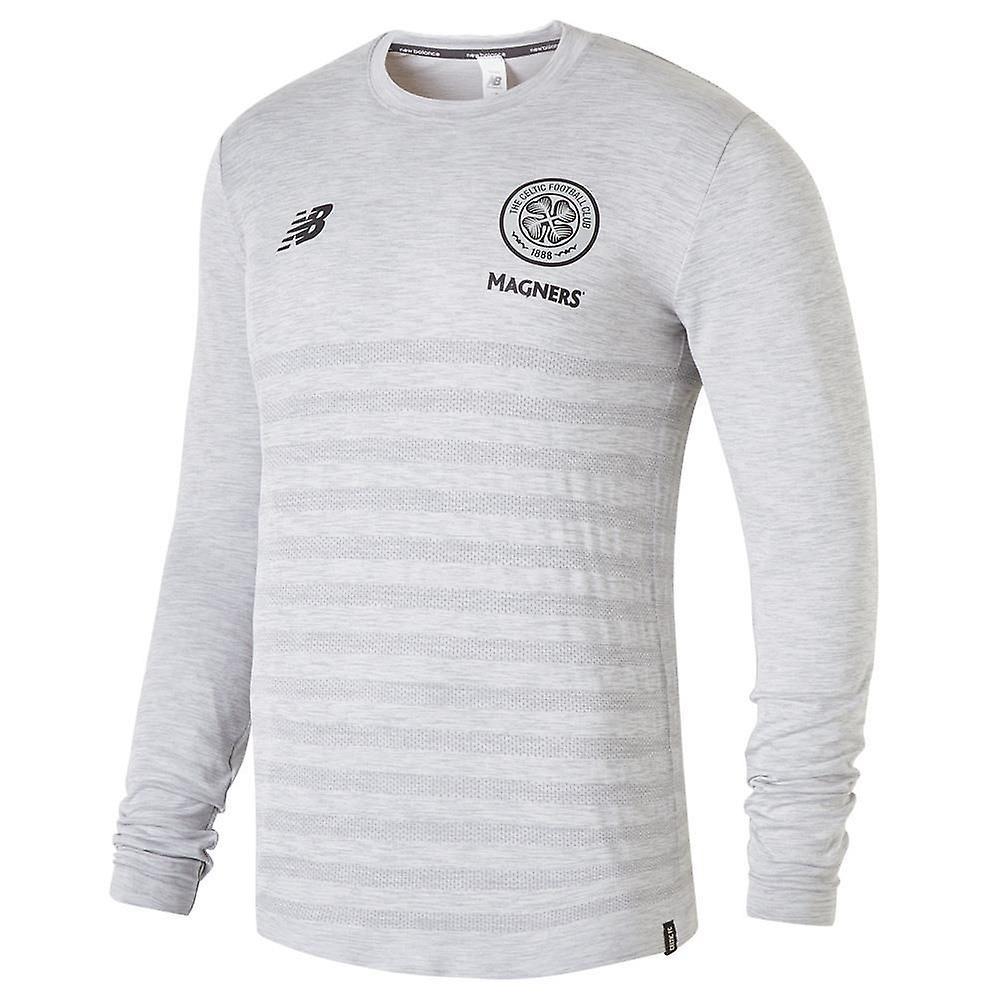 2018-2019 Celtic Elite Seamless LS Jersey (Grey Marl)