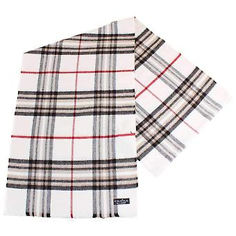 Fraas Checked Scarf - Off White