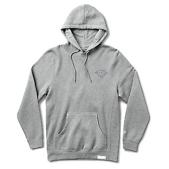 Diamond Supply Co Micro Brilliant Hoodie Heather Grey