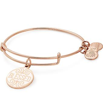 Alex And Ani Words Are Poweful Blessed Rose Gold Charm Bangle - A18WAP04SR
