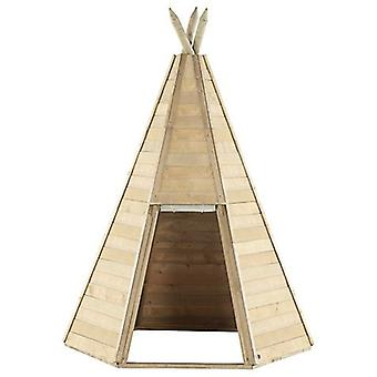 Play Tent - Great Wooden Kids Teepee Hideaway - Outdoor Toys - Plum