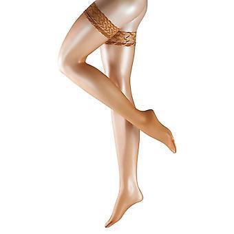 Falke Shelina Stay Up Shimmer 12 Denier Stockings - Noisette Tan