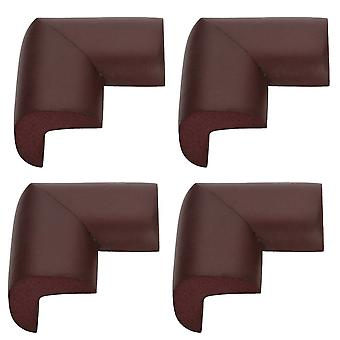 TRIXES 4 Safety L- Shape Foam Furniture Corner Protectors Brown