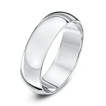 Sterne-Hochzeit Hochzeit Ring Ringe 18 Karat Weissgold Extra Heavy D 6mm