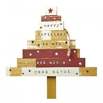 Heaven Sends Wooden Hanging Christmas Tree Decoration