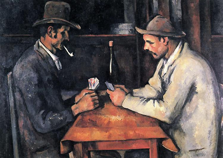 Les joueurs de voituretes, Paul Cezanne, 60x73cm