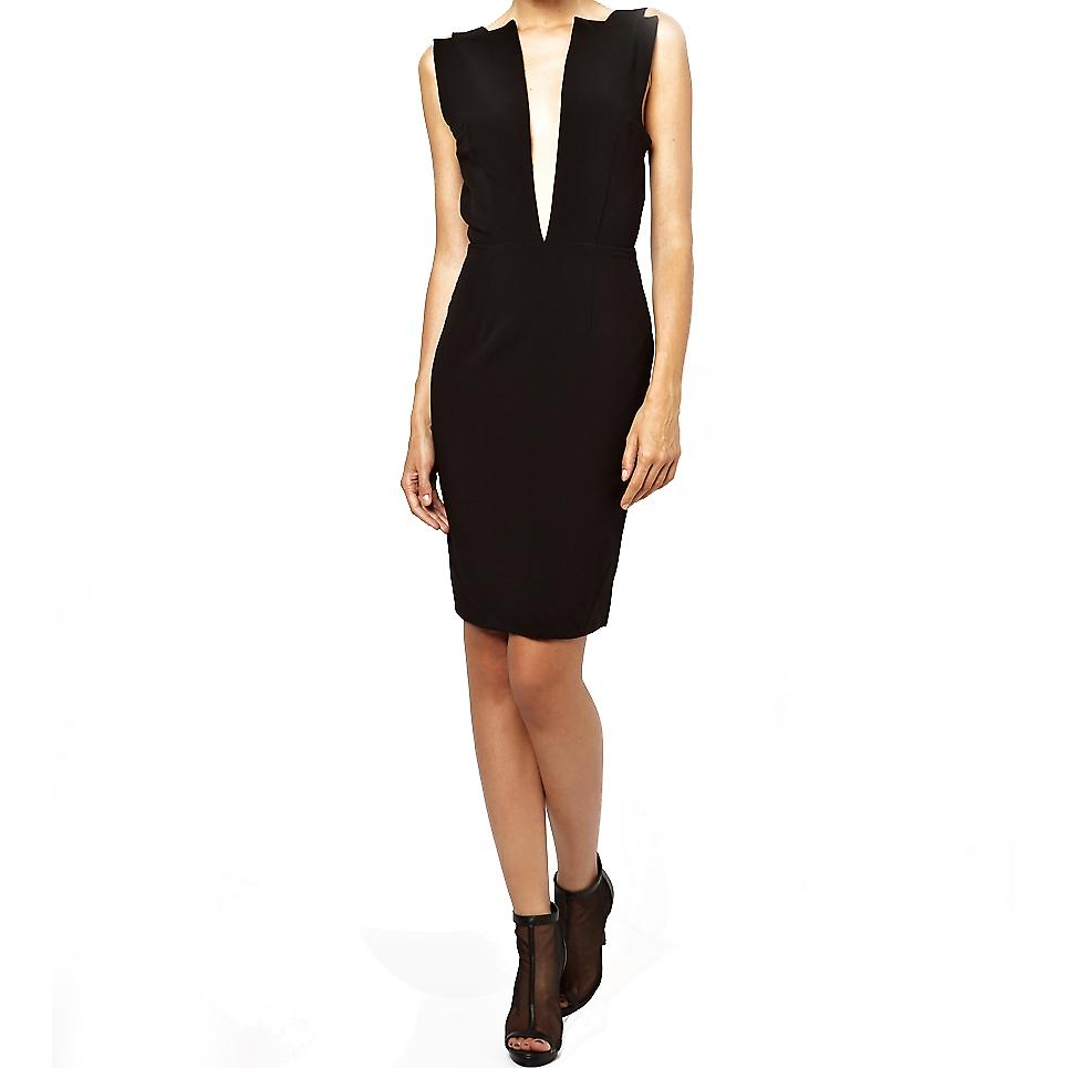 Waooh - Fashion - Short Dress Grand Neckline Sleeveless