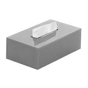 Gedy Rainbow Rectangular Tissue Box Silver RA08 73