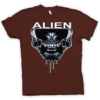 Koszulka męska - Alien Face - Sci Fi - Pop-artu