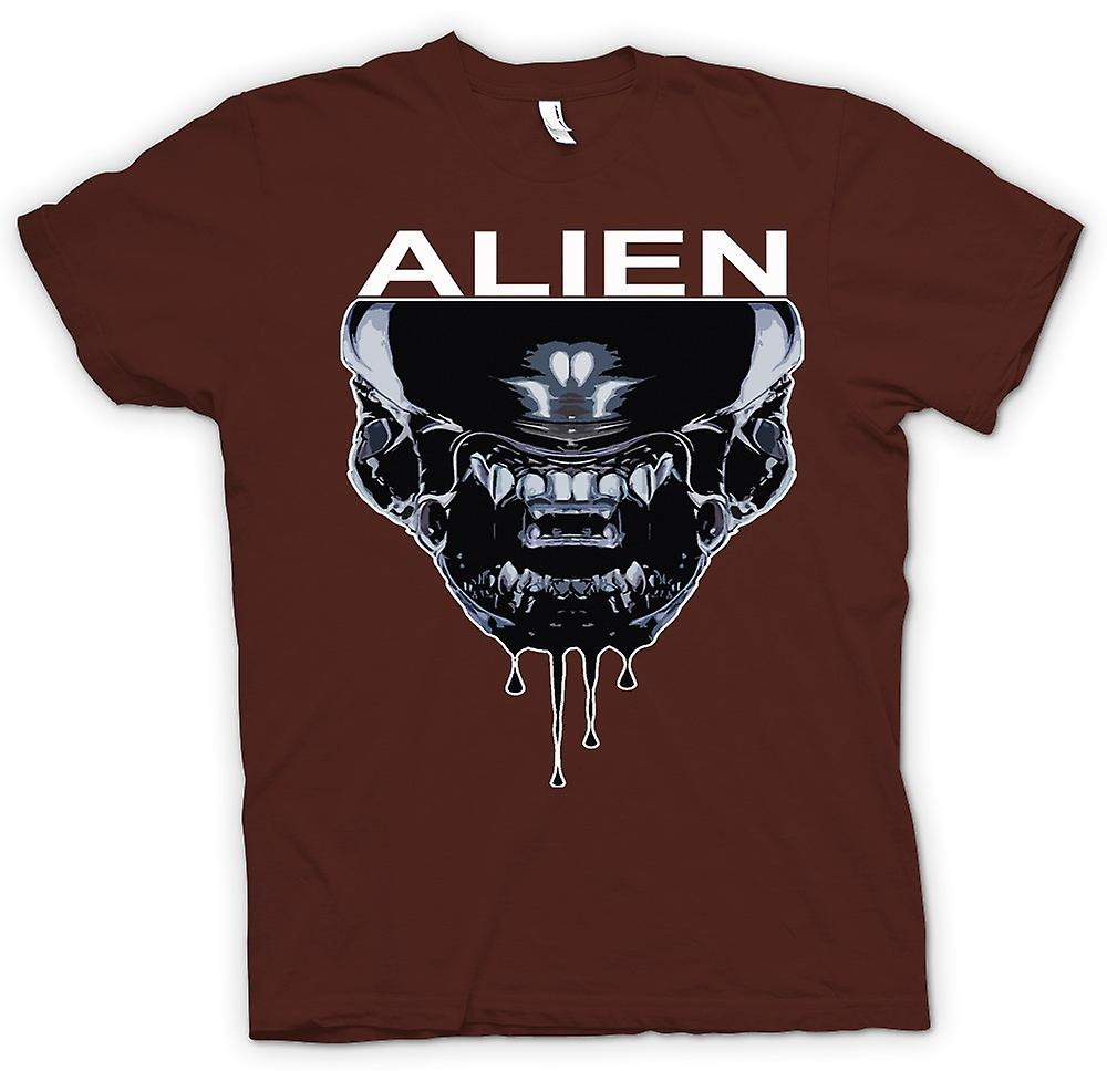 Mens t-skjorte-Alien ansikt - Sci Fi - Pop Art