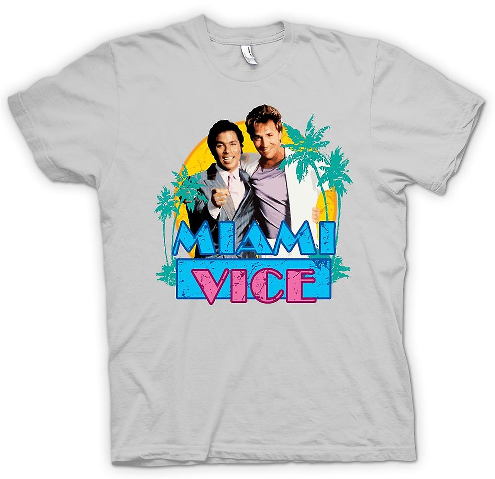Herr T-shirt - Miami Vice - Crockett och Tubbs