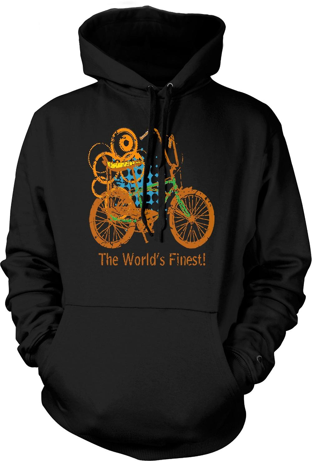 Mens Hoodie - Chopper Bike - World's Finest - Funny Graphic Design