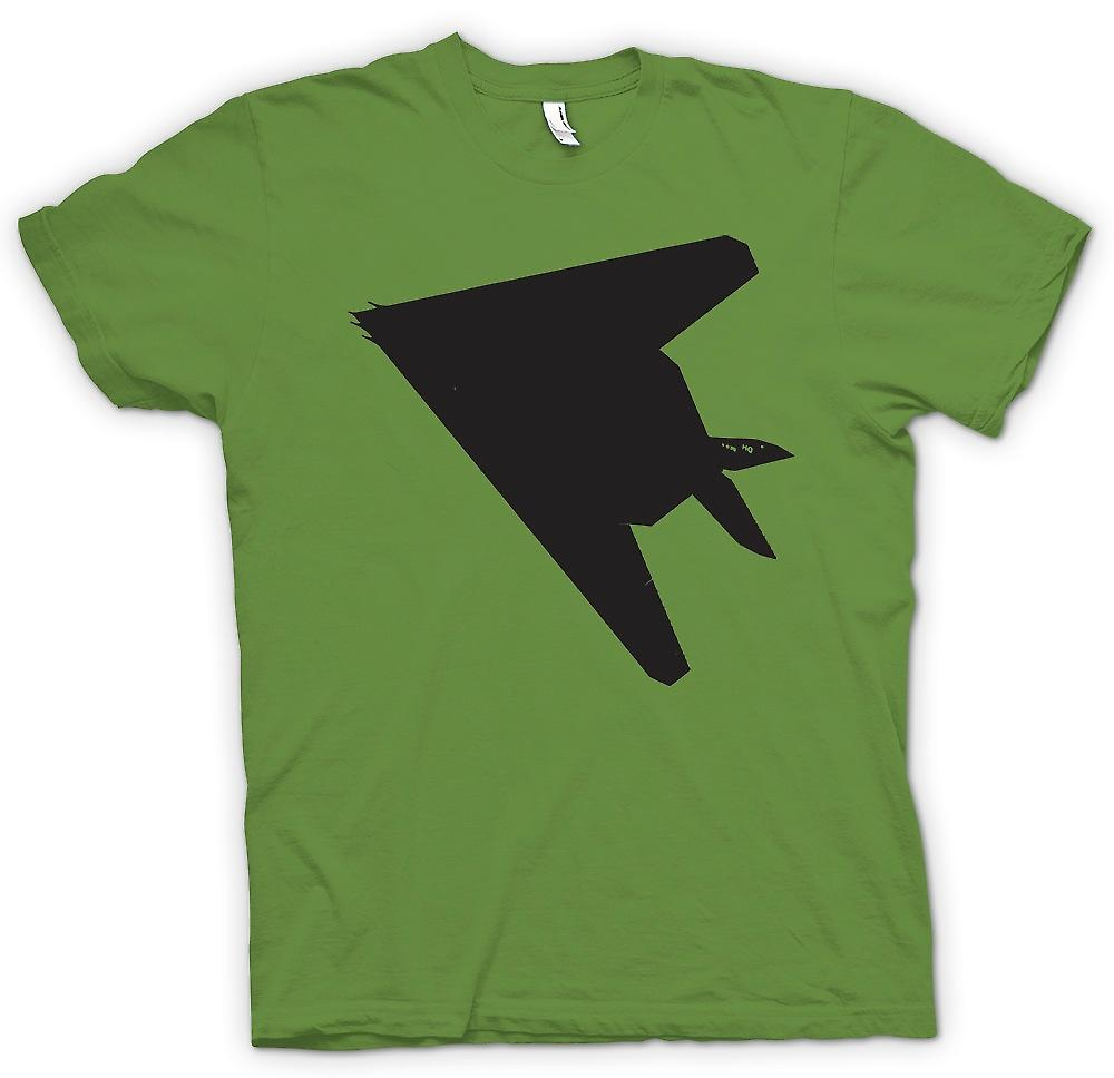 Herr T-shirt - Lockheed F-117 Nighthawk - Stealth Fighter undersidan