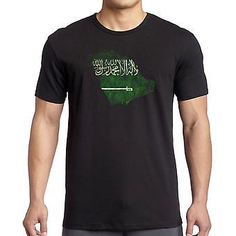 Saudia Arabian Saudiarabien flagga karta - T Shirt