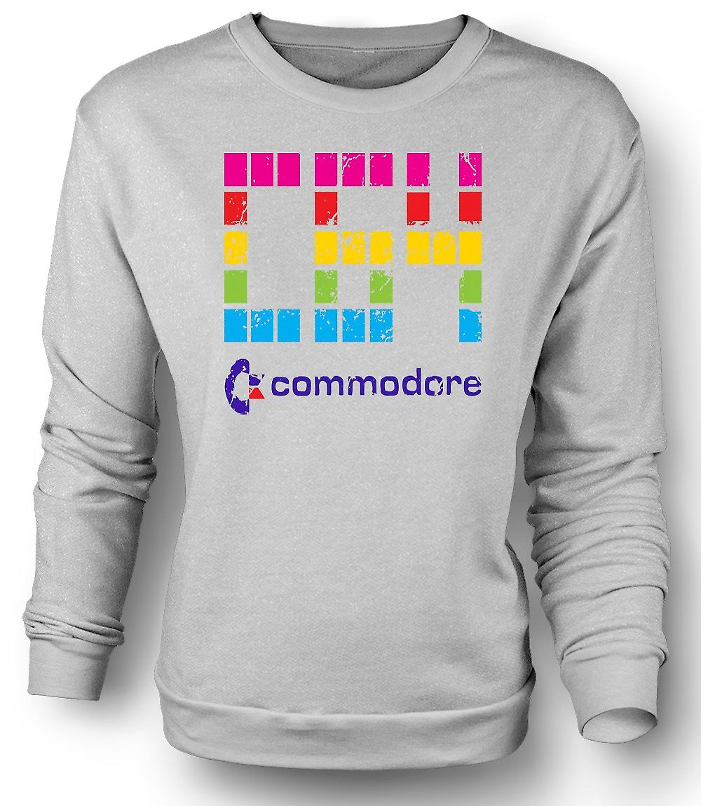 Mens Sweatshirt Commodore C64 - Retro-Computerspiele - lustig