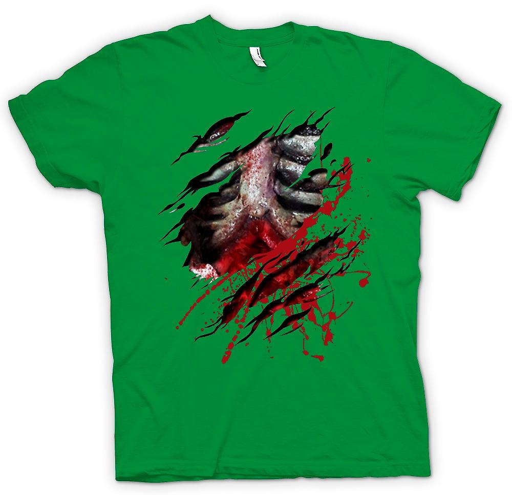 Heren T-shirt-Zombie Walking Dead ribben en lef geript Design