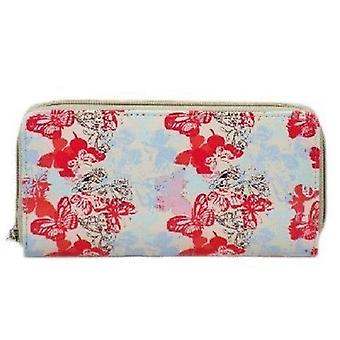 Ladies Ella Zip Butterfly Print Purse 73166