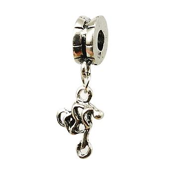 TOC BEADZ Bike Cyclist 5mm Dangle Slide-on Charm Bead