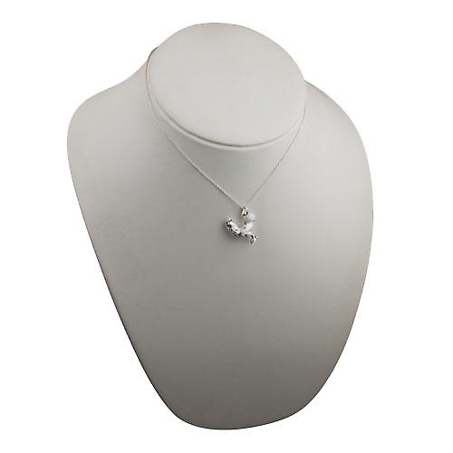 Silver 24x21mm solid Cockerel Pendant with a rolo Chain 16 inches Only Suitable for Children