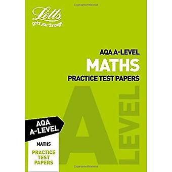 Letts A-Level Revision Success - AQA A-Level Maths Practice Test Papers (Letts A-Level Revision Success)