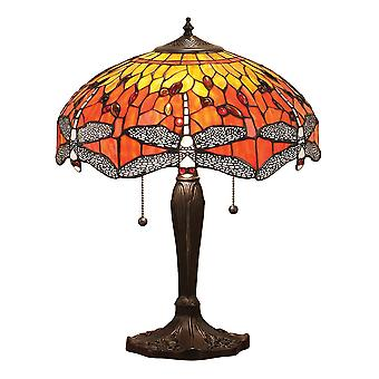 Lampe de Table flamme moyenne Style Tiffany libellule - Interiors 1900 64093