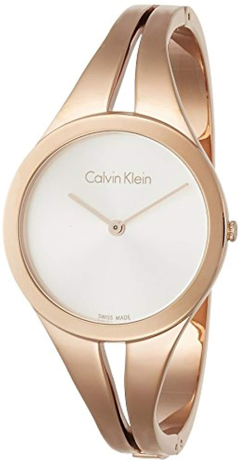 Calvin Klein ladies Quartz analogue watch with stainless steel band K7W2M616
