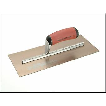 MPB7GSD PRE-WORN PLASTERERS TROWEL GOLD STAINLESS STEEL 12 X 5IN