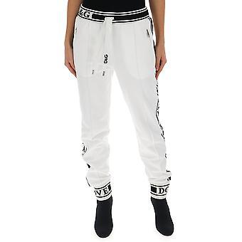 Dolce E Gabbana White Cotton Pants