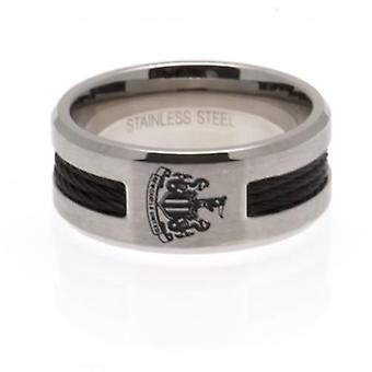 Newcastle United Black Inlay Ring Large