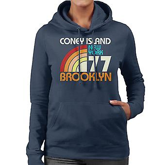 Coney Island Retro 77 kvinnor 's Hooded Sweatshirt