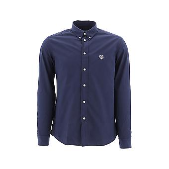 Kenzo Blue Cotton Shirt