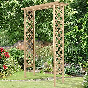Forest Garden Pressure Treated FSC Timber Trellis Arch