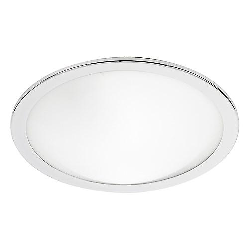 Endon EL-20082 Circular Satin Chrome And Opal Glass Bathroom Flush Ceiling Light