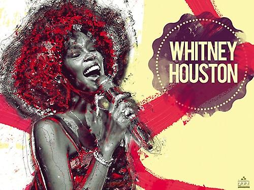 Whitney Houston Poster Music Art Print (24x18)