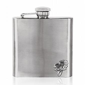 6oz Stainless Steel Thistle Flask - Fb238