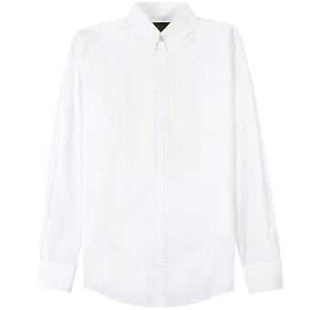 Dsquared2 Pleated Patterned Shirt White