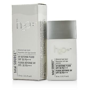 H2O + Gesamt Quelle UV Defense Fluid LSF 50 30ml / 1oz