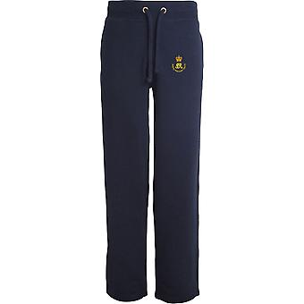 Royal Waggon Train - Licensed British Army Embroidered Open Hem Sweatpants / Jogging Bottoms