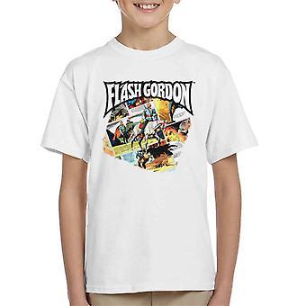 Flash Gordon Gryph Riding Montage Kid's T-Shirt