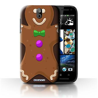 STUFF4 Case/Cover voor HTC Desire 608t/Gingerbread Man/kerst karakter