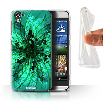 STUFF4 Gel/TPU Case/Cover for HTC Desire 826/Spiral/Symmetry Pattern