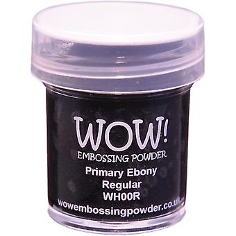 Wow! Embossing Powder 15Ml Primary Ebony Wow Wh00r