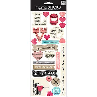 Dictons Stickers amour papier journal Stp 188