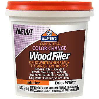Elmer's Color Change Wood Filler 16oz-White E917