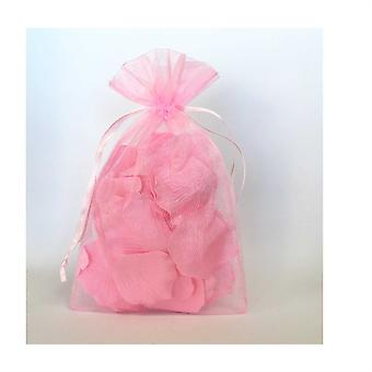 50pcs Pink Luxury Organza Gift Bags 15x12cm Jewellery Pouches XMAS Wedding Party Candy Favour