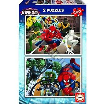 Marvel Ultimate Spiderman 2 X 100 (Toys , Boardgames , Puzzles)