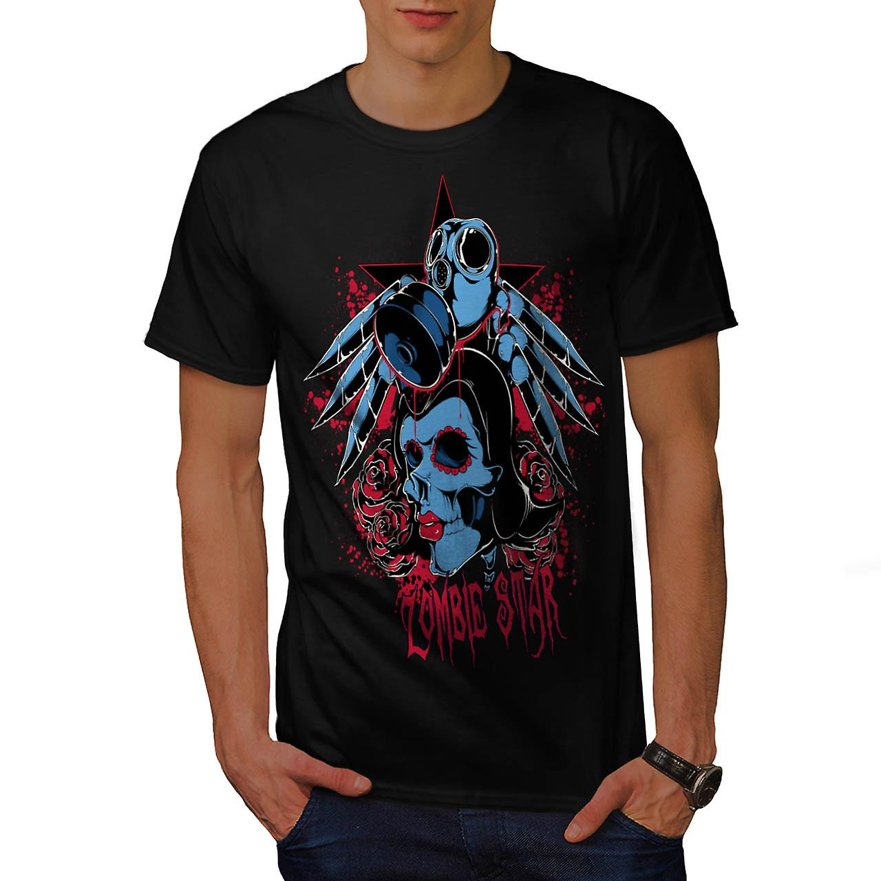 Evil Zombie Star Rise Nightmare Men Black T-shirt | Wellcoda