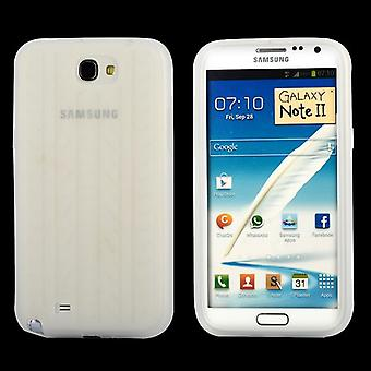 Cover with standard tire in silicone, for Samsung Galaxy Note 2 (white)